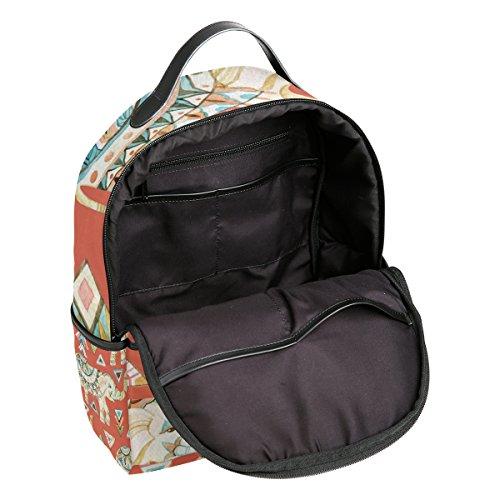 Shoulder for Backpack Laptop Indian TIZORAX Tribal Handbag Lightweight Elephant Ornate Casual Student Bag School Daypack qw0Hz