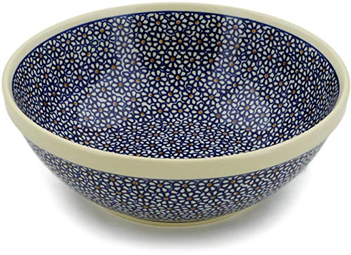 Polish Pottery 9¼-inch Bowl (Daisy Dreams Theme) + Certificate of Authenticity