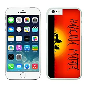 Iphone 6 Plus Case 5.5 Inches, Hakuna Matata Popular White Phone Protective Cover Case for Apple Iphone 6 Plus Mobile Accessories Red Background