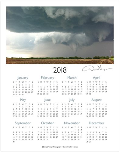 2018 Storms One Page Fine Art Wall Calendar. Storm's Ballet. 11x14. For Framing. Best Quality Birthday, Christmas, Mother's Day & Valentines Gifts for Women, Men & Kids. Unique Idea for Him or Her