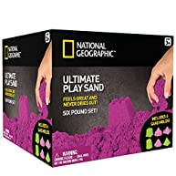 National Geographic Play Sand - 6 LBS of Sand with Castle Molds - 3 Color Options - Purple