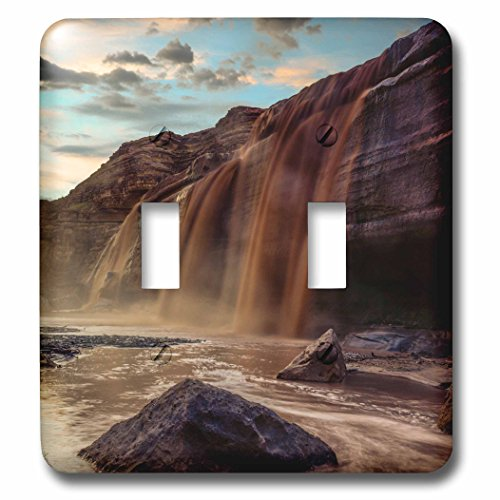 3dRose Danita Delimont - Waterfalls - Little Colorado River in Arizona after a storm - Light Switch Covers - double toggle switch - Outlet Flagstaff