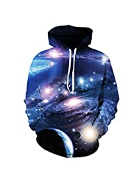 AMOMA Unisex Realistic 3d Digital Print Pullover Hoodie Hooded Sweatshirt