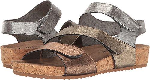 Walking Cradles Women's Pasha Quarter Strap Sandal,Metallic Multi Leather,US 4.5 (Metallic Multi Strap)