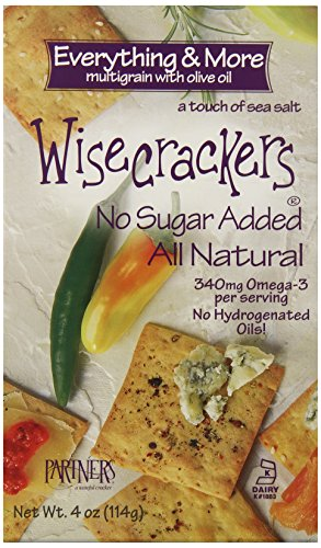 Oil Crackers Olive - Wisecrackers Everything and More Multigrain Crackers with Olive Oil, 4-Ounce (Pack of 6)