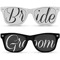 2pcs Retro Wedding Sunglasses Pack (Bride &Groom)