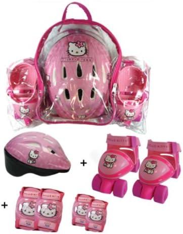 Unbekannt Kinder-Rollschuh-Set Hello Kitty Schutzausrstung Helm