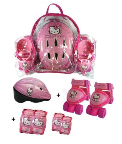 Darpèje Hello Kitty - Bolsa con patin de ruedas + casco + 2 protecciones OHKY02: Amazon.es: Juguetes y juegos