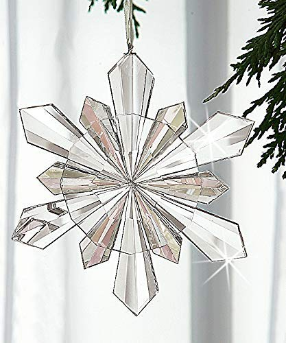 Crystal Snowflake Ornament, Handcrafted Faceted Christmas Tree Ornament or Suncatcher
