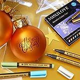 MISULOVE Metallic Marker Pens, Set of 10 Colors