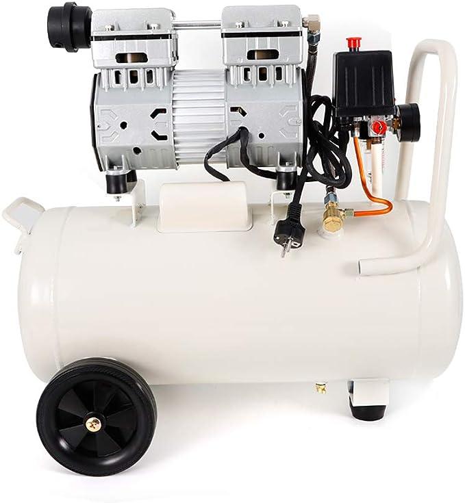 Yiyiby 850 W Silent compresor silencioso sin aceite 35 L compresor de aire silencioso caldera de aire comprimido compresor de aire de combustible de agua con doble manómetro: Amazon.es: Bricolaje y herramientas