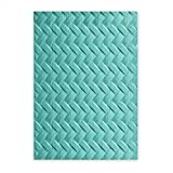 Sizzix 661261 3-D Textured Impressions Embossing Folder, Woven by Lynda Kanase, Red