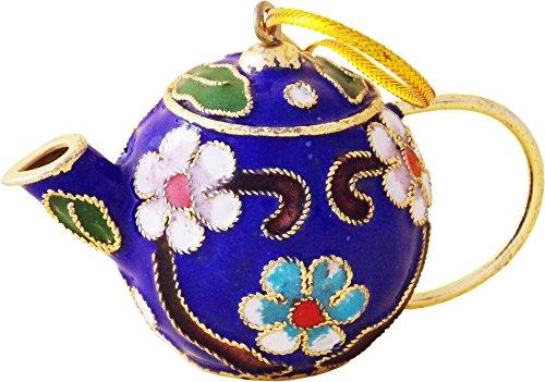 Blue Cloisonne Teapot Ornament