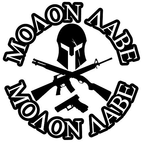 BAMFdecals-Molon-Labe-Spartan-Jolly-Roger-with-Greek-Text-3-Gun-Die-Cut-Vinyl-Decal-Available-in-3-Sizes-and-12-Colors