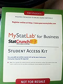 Phstat access kit for statistics david f stephan david m mystatlab for business statistics valuepack access card fandeluxe Image collections