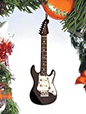 "Musical Instrument Christmas Ornament (5"" Black Electric Guitar)"