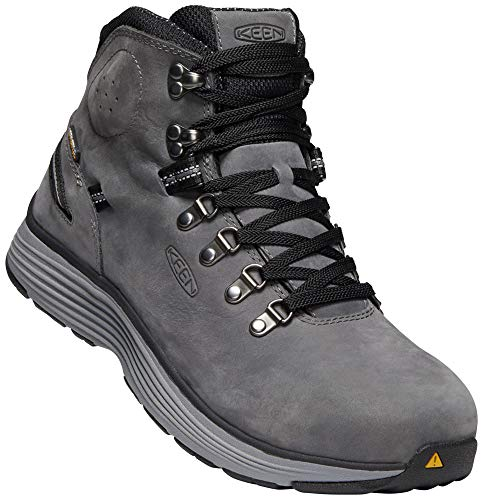 - KEEN Utility - Men's Manchester 6'' WP (Aluminum Toe) Waterproof Work Boot for Maintenance, Transportation, Warehouse and Distribution, Forged Iron/Black, 10EE M US