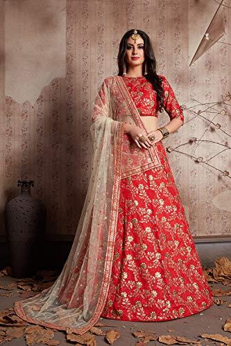 Designer Choli Da Ethnic Partywear red Women Facioun Traditional Indian Lehenga Fz6f1ctz