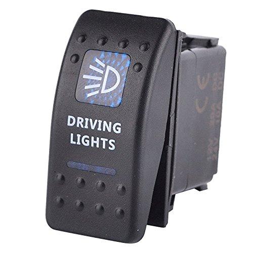 Nolunt 1 PCS Waterproof Car Boat Truck Light Toggle Switch Bar Carling Style Blue Toggle Rocker SPST ON-OFF Switch 12V//20A,24V//10A TM
