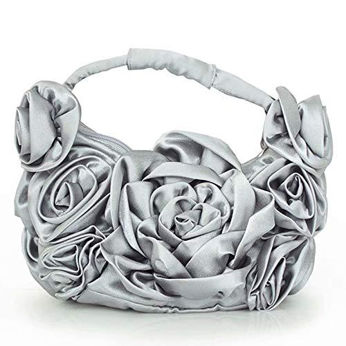 Cuore Per Bag Di Da Bridal A Handmade Pochette Gg Nero Beaded Mini Banchetti clutches Borsa Forma w7n0qa