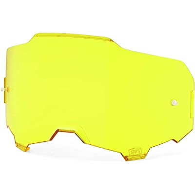 100% Injected Replacement Goggle Lens-Armega-Yellow: Automotive