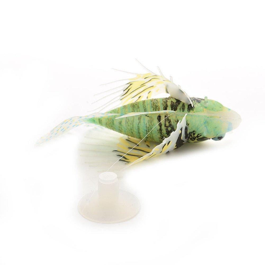 WINNERUS 1 UNIDS 3 de Silicona Artificial Fake Lionfish Inicio Acuario Tanque Ornamento Decoración 2 Vivide (Negro): Amazon.es: Productos para mascotas