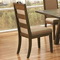 Coaster 105682 Home Furnishings Dining Chair (Set of 2), Weathered Acacia