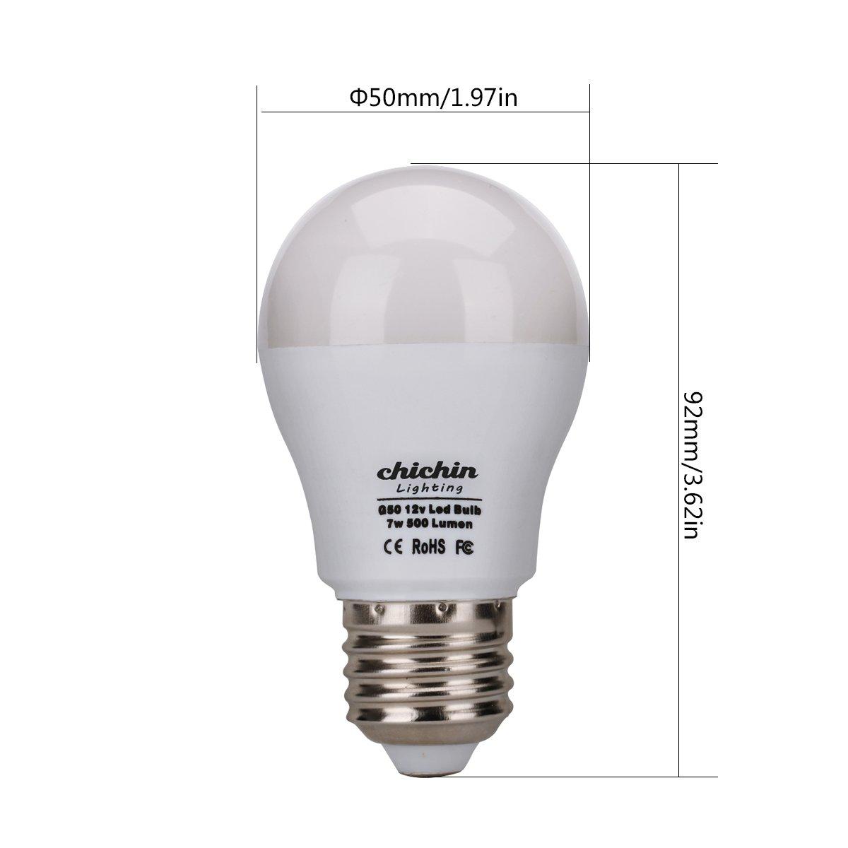 Chichinlighting 12v E26 Led Bulbs 7 Watts 12 Volt Lights Ac Dc Compatible Rv Camper Marine E27 Warm White Canada