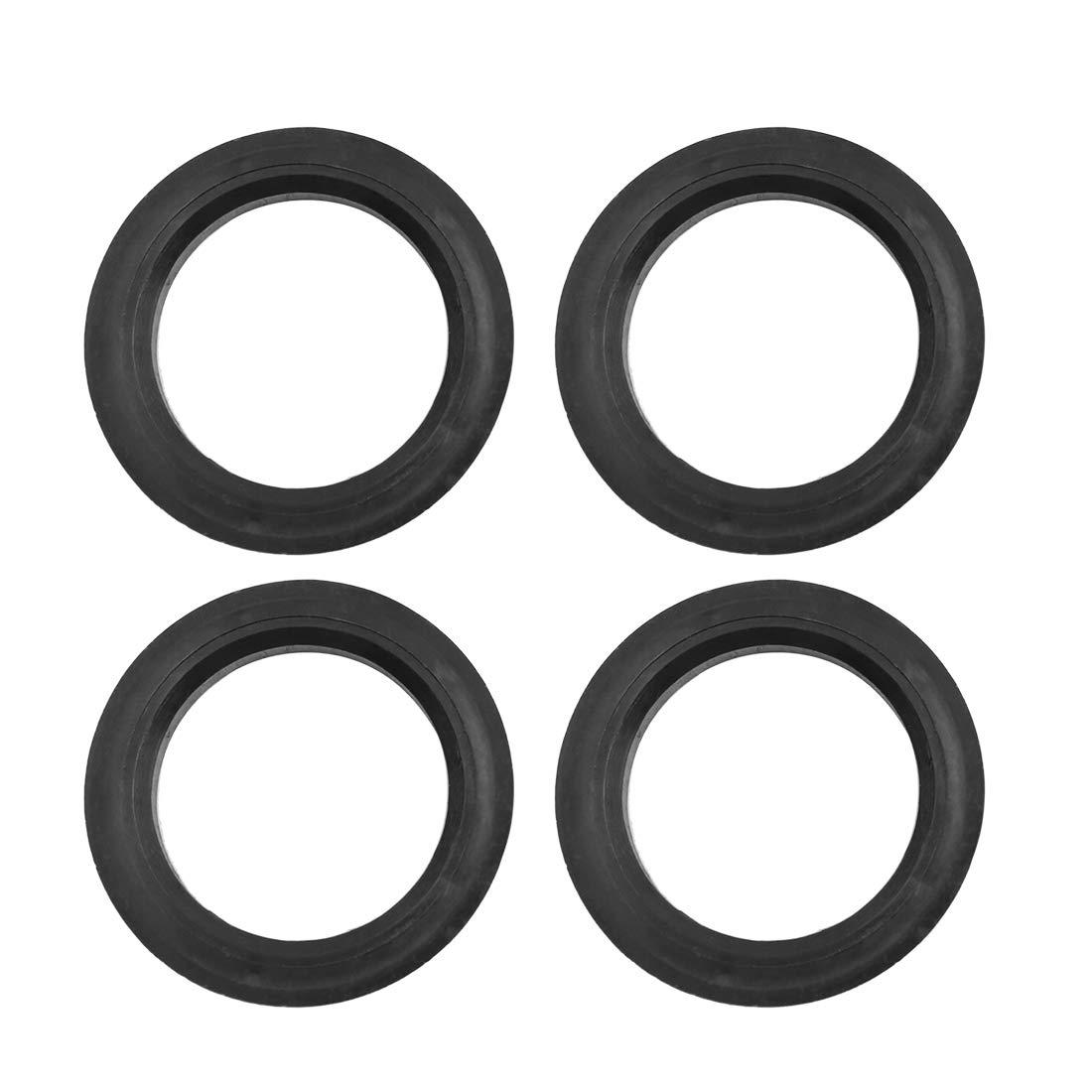 4pcs Black Plastic X AUTOHAUX Car Hub Centric Rings Wheel Bore Center 66.6 to 57.1mm