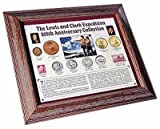 Lewis and Clark 200th (bicentennial) Anniversary Coin & Stamp Collection with Frame