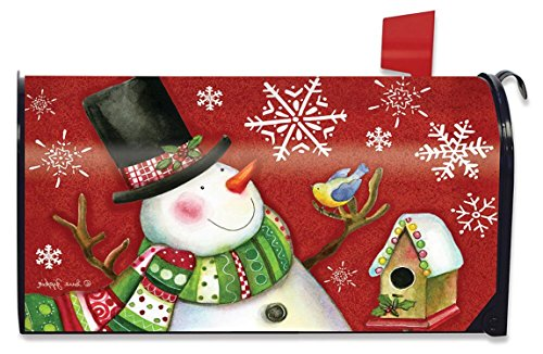 Briarwood Lane Frosty Friends Christmas Magnetic Mailbox Cover Snowman - Frosty Snowman Friends