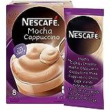 NESCAFÉ Mocha Cappuccino, Instant Coffee Mix Sachets, 8x18g (8 Cups)