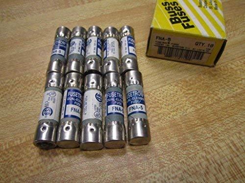 Bussmann FNA-5 Fusetron FNA5 Fuse 5 Amp (Pack of 10)