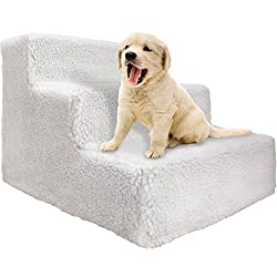 OxGord Pet Stairs to get on High Bed for Cat and Dog Steps at Home or Portable Travel Up to 70 lbs