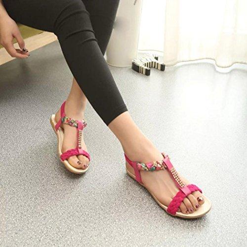 Deesee (tm) Kvinnor Sandaler Elastiskt Band Skor Vardagsskor Sandaler Komfort Sandaler Rött