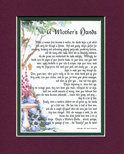 A Mother's Hands, #07 A Mother's Day Birthday Gift Present Poem For A Mother Daughter Or Grandmother