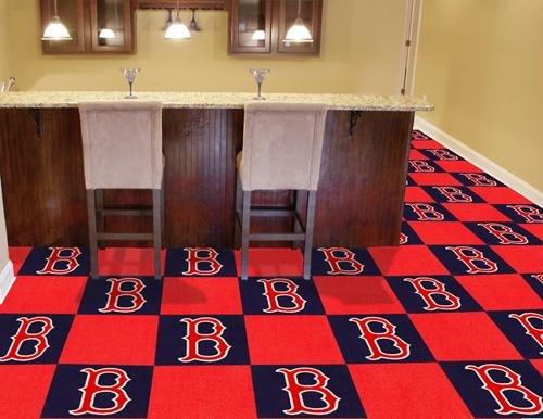 - Fan Mats Boston Red Sox Carpet Tiles,18