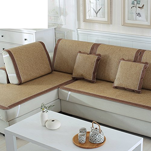 Cane Settee - Ice Silk Sofa Pad/Summer Sleeping Mat,Anti-skidding ,The Cane Bamboo,Living Room,European Style,Sofa Sets-G 60x150cm(24x59inch)