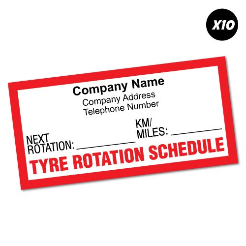 10X Custom Company Tyre Tire Rotation Due Sticker Decal Car Vinyl Personalized Text
