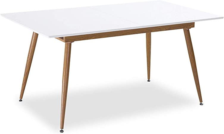 Intensedeco Table Extensible Scandinave Betty Blanc 6 A 8