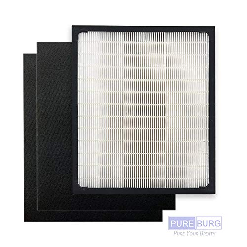 Pureburg Replacement 1 HEPA Filter and 2 Carbon Filters for Idylis Type D IAF-H-100D IAP-10-280 AC-2118 AC-2123