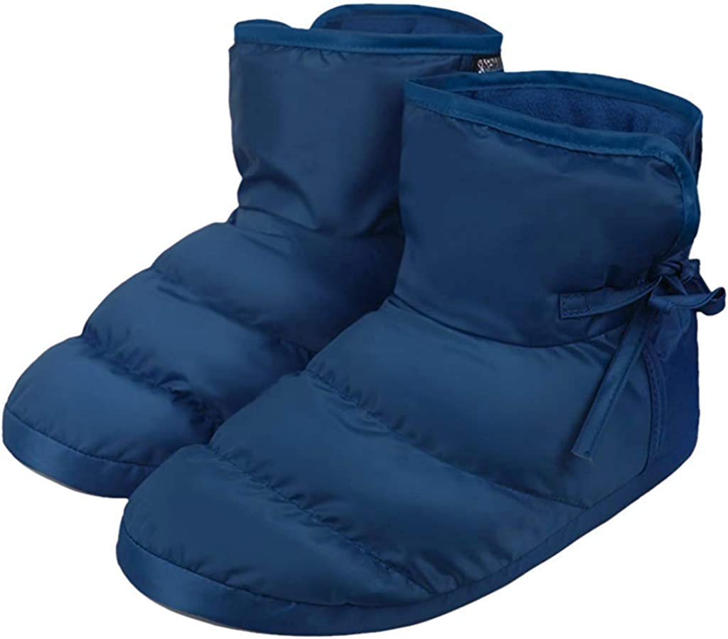 Holiberty Waterproof Cozy Down Warm Fleece Indoor Slippers Bootie Shoes Ankle Snow Boots