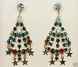 Kirks Folly Christmas Tree Chandelier Pierced Earrings