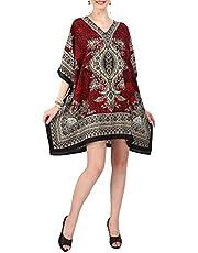 Miss Lavish London Women Kaftan Tunic Kimono Style Plus Size Dress for Loungewear Holidays Nightwear & Everyday Cover Up Tops #121