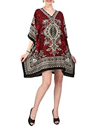 Miss Lavish London Women Kaftan Tunic Kimono Free Size Dress for Loungewear Holidays Nightwear Beach Everyday Top #121