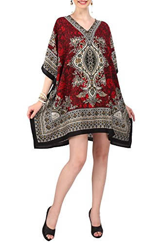 Women's Kaftan Tunic Kimono Dress Summer Evening Plus Size Beach Cover Up 10 -24