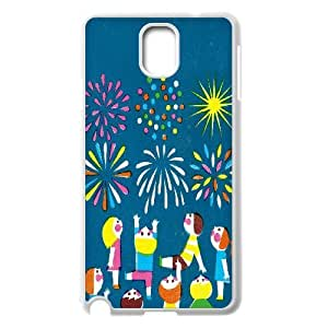 Cases for Samsung Galaxy Note 3, the Fireworks and Children Illustrations. Cases for Samsung Galaxy Note 3, Sexyass White