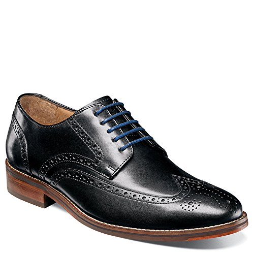 Wing Black Oxford Tip Salerno Florsheim Men's 3E 7 qxTpBAEW