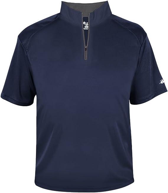 Badger Sport Royal Blue Adult Large 1//4 Zip Wicking Pullover