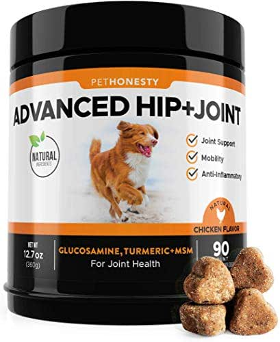 Glucosamine for Dogs - Dog Joint Supplement Support for Dogs with glucosamine Chondroitin, MSM, Turmeric - Advanced Hip and Joint Support for Dogs Chews and Pet Joint Pain Arthritis Relief - 90 ct